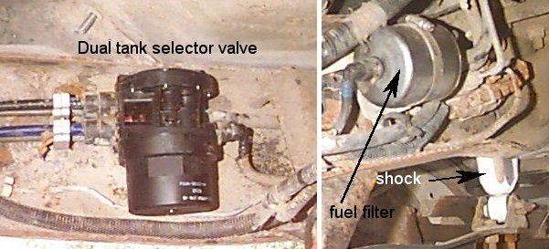 150 fuel filter location on 1990 ford bronco
